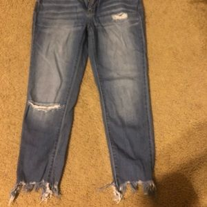 Kancan distressed crop jeans
